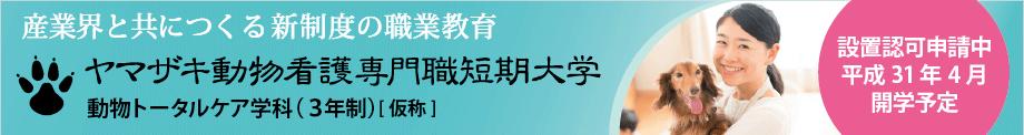 ヤマザキ動物看護専門職短期大学申請中